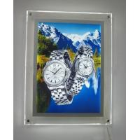 China Clear Acrylic LED Illuminated Light Box Wall Mounted For Advertising Display on sale