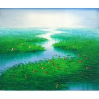 Quality landscape painting tree bird art painting wholesale