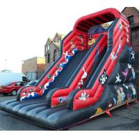 China Red / Black Pirate Inflatable Pirate Ship Slide For Party 30ft on sale