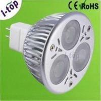 China Silver Aluminium 3*1W High Power LED spot Lamps for Home Ceiling Lighting 190 Lumens MR16 on sale