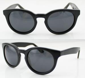Quality Fashion Black Acetate Frame Sunglasses , Ladies Sunglasses wholesale