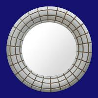 Quality 4029 Silver Tone Round Hinged Mirror Glass for Bathroom wholesale