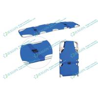 Quality Safety two folded aluminum alloy Ambulance stretcher with belts / first aid stretchers wholesale