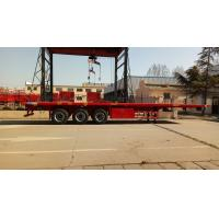 Quality Cargo Container Platform Semi Trailer With Howo Heavy Duty Chassis And Twist Locks wholesale