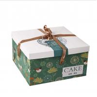 China Custom Logo Recyclable Paper Birthday Cake Box CMYK Color Printing on sale