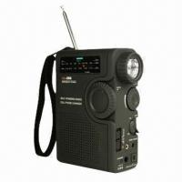 China Dynamo Radio with Three-way Power Supply and Weather Band Radio Broadcasts on sale