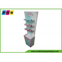 Quality Floor Standing Cardboard Pop Displays Equip Three Shelves For Kids Cosmetics FL197 wholesale