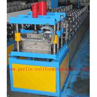 Quality Corrugated Color Steel Roof Ridge Cap Roll Forming Machine , Trapezoidal Profile Roll Former wholesale