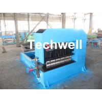 Quality 0-10M / Min Cold Roll Forming Equipment , Roof Sheet Making Machine 500mm Curving Radius wholesale