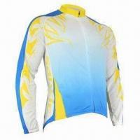 Quality Bicycle jersey with full zipper beautiful screen print wholesale