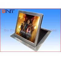 China Motorized Computer Monitor Lift Brushed Aluminum With Vertical Flip Up Monitor on sale