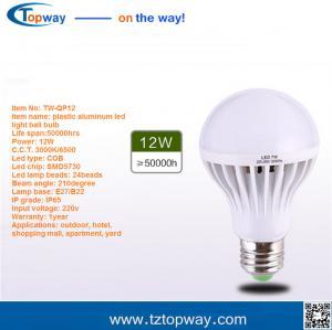 China super bright energy saving aluminum housing 3000 lumen 18w e27 led bulb lighting on sale