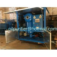 Quality Vacuum Transformer Oil Treatment Plant, Switchgear Oil Processing Equipment, Oil Reconditioning Device wholesale