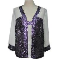 Quality Lady Chiffon Shirt/Blouse/Top with Sequins wholesale