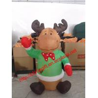 China 120cm Christmas Inflatable Sitting Reindeer Blow-Up Yard Decoration on sale