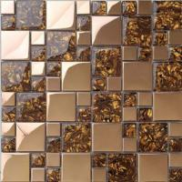 Quality Gold Stainless Steel Kitchen Backsplash Mosaic Tiles For Kitchen Table Top wholesale