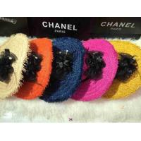 Quality New arrival 2014 designer double C Hand-made lady woven straw  fashionab dame bowknot hats wholesale