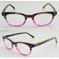 Quality Fashion Oval Handmade Acetate Pink Womens Eyeglass Frames With Custom Logo wholesale