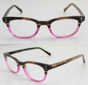 Cheap Fashion Oval Handmade Acetate Pink Womens Eyeglass Frames With Custom Logo for sale