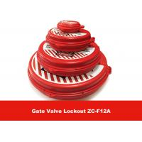 Cheap New Standard ABS  2.5'' - 5'' Red Gate Valve Lockout , Safety LOTO Equipment for sale