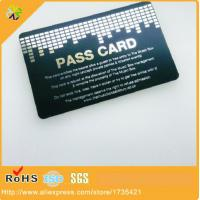 China 2017 new design metal business card world!custom size/logo/words plated matte black metal card printing on sale