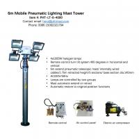 Quality 6m pneumatic telescopic lighting mast with 4000W lamps and remote turn tilt control system wholesale