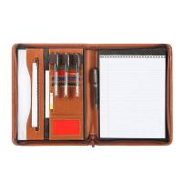 Quality Unisex PU Leather Business Portfolio With Multiple Compartments And Pockets wholesale