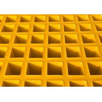 Quality High Strength Fiberglass Walkway Grating, Grey Concave Surface FRP Molded Grating wholesale