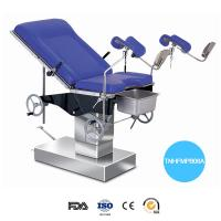 Quality Stainless Steel Hydraulic Operation Table Blue Mattress Labor Control Gyn Examination Chair wholesale