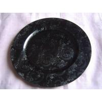China Leathered charger plate on sale