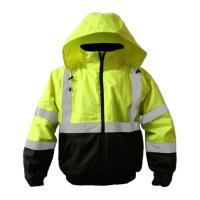 Buy cheap Hi Vis Insulated Reflective Safety Workwear Bomber Jacket from wholesalers
