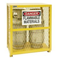 Quality Weather Proof Gas Cylinder Storage Cabinets , Liquefied Gas Cylinder Storage Cages wholesale