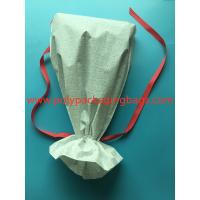 Quality White CPE Drawstring Plastic Bags For New Year Gift / Women