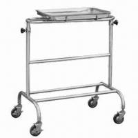 Cheap Stainless Steel Trolley for Operation Instrument, Measures 700x430x820/1000mm for sale