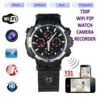 Quality Y31 16GB 720P WIFI IP Spy Watch Hidden Camera Recorder IR Night Vision Home Security Wireless Remote Video Monitoring wholesale