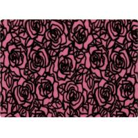 Quality 100% Polyester Rose Patterned Flocked Velvet Fabric 140-150gsm wholesale