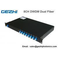 Quality 100Ghz DWDM 8 Channel Multiplexer and Demultiplexer in unit dual fiber wholesale