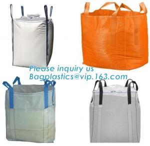 China U-type competitive price 100% PP breathable bulk big woven fibc bags mesh jumbo bag for firewood potato, BAGPLASTICS on sale