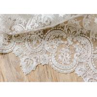Quality Ornament Wedding Floral Corded Lace Fabric Embroidered Tulle For Pallas Couture wholesale