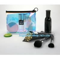 Quality gusset slider ziplock printed pvc zipper bags with holding loop with confetti, zipper slider bags for pencils pens wholesale
