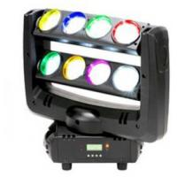 Buy cheap Black Case LED Double Row 8-eyes 4-In-1 RGBW  Unlimited Spider Moving Head Beam Light from wholesalers