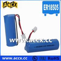Quality 4000mAh 3.6V ER18505 lisoci2 battery for heat meter, water meter wholesale