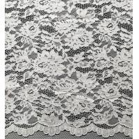 China Nylon Bridal Lace Fabric With Flower and Leaf Pattern on sale