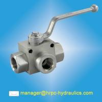 China HRPC brand hydraulic components-high pressure 3 way ball valves on sale