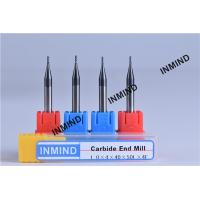 China Upto HRC50 AlTiN Coating , 1mm to 4mm Square End Mill , 4 Flute , Carbide end mill , Grain Size 0.8UM , on sale