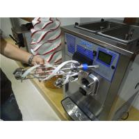 China Countertop Triple Flavor Ice Cream Making Machine With Air Pump High Overrun on sale