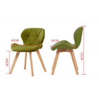 China Slip Resistant Beech Dining Chair , Multi Coloured Fabric Dining Chairs on sale