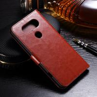 Quality Protective LG Leather Case for LG V20 Handmade Folio Style Side - Open With Hole wholesale