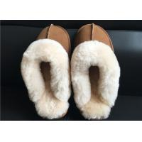 Quality Ladies Countess Sheepskin Slippers Chestnut Deluxe Ladies Sheepskin slipper brown wholesale