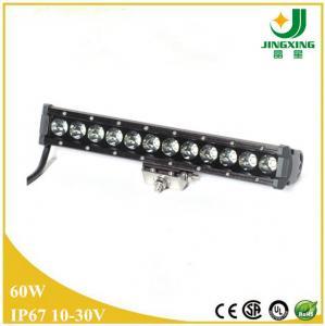 Quality 10-30v cree led light bar single row led light bar 60w car led light bar wholesale